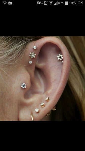 Jewels Earrings Tragus Stud Piercing Helix Piercing
