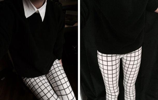 Black White Checkered Jumpsuit