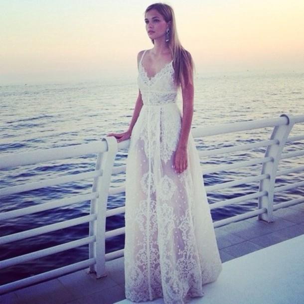 Beach Wedding Dress White Dress Lace Dress Style