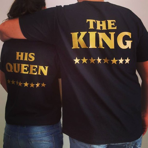 T Shirt Tees2peace King Queen Gold Edition Love