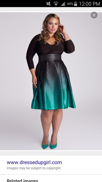 Dress Teal Ombre Dress Black Wedding Guest Plus Size