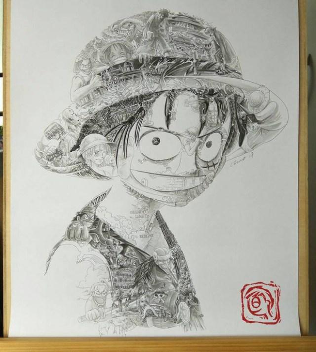 """Toàn bộ nhân vật trong Dragon Ball đều gói gọn trong bức chân dung """"bé"""" Son Goku"""