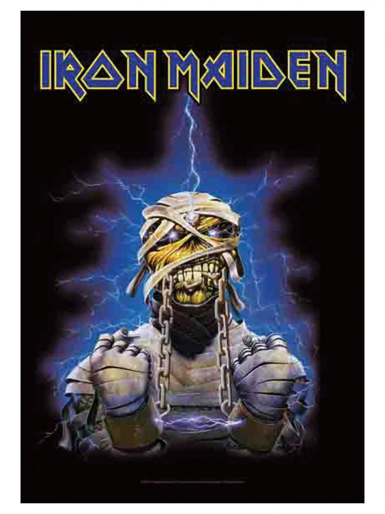 iron maiden poster fahne chained