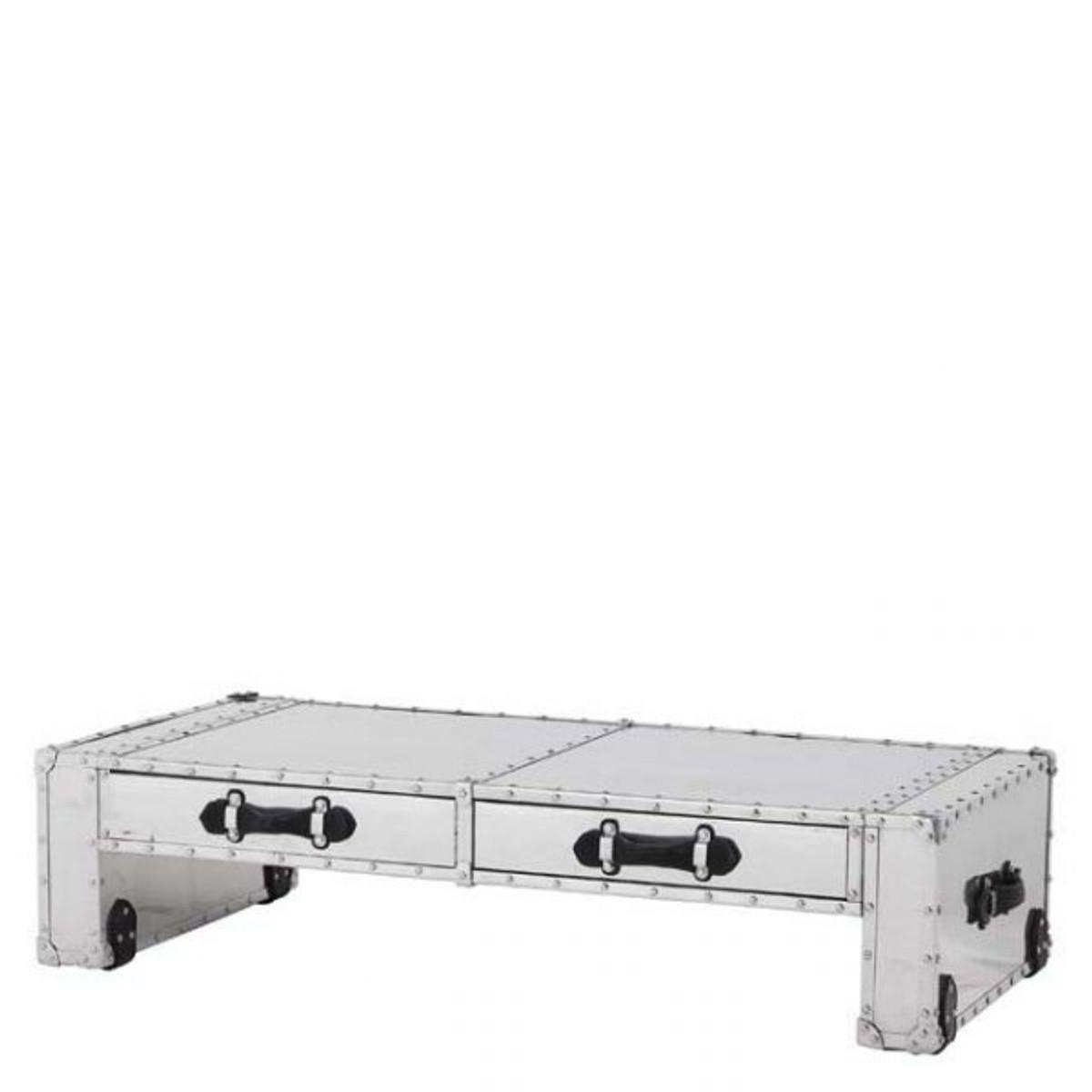 casa padrino couchtisch vintage metal aluminium mod2 coffee table alu salon tisch
