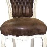 Barock Esszimmer Stuhl Braun Creme Lederoptik Kaufen Bei Demotex Gmbh