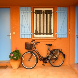 Bicycle in front of a Window