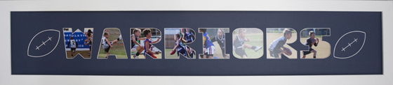 sports name frame handmade christmas gifts