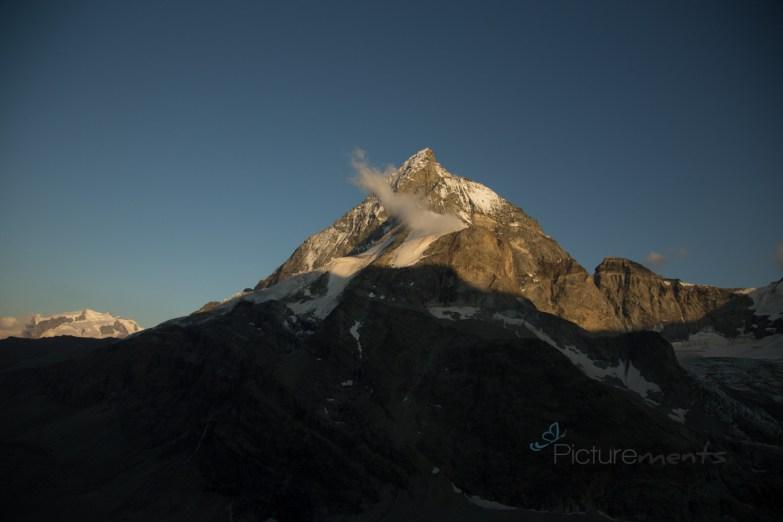 Auf 2694 m ü.n.N.: das Matterhorn von der Schönbielhütte aus