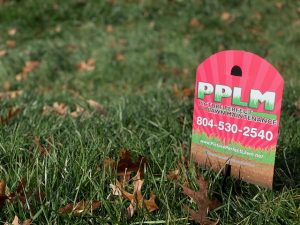 Elm Crest Lawn Care | Fertilized By PPLM | (804)530-2540 | Green Lawns In VA | Pink Signs