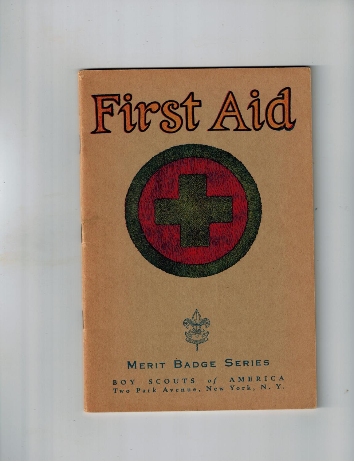 First Aid Merit Badge Series Boy Scouts Of America By