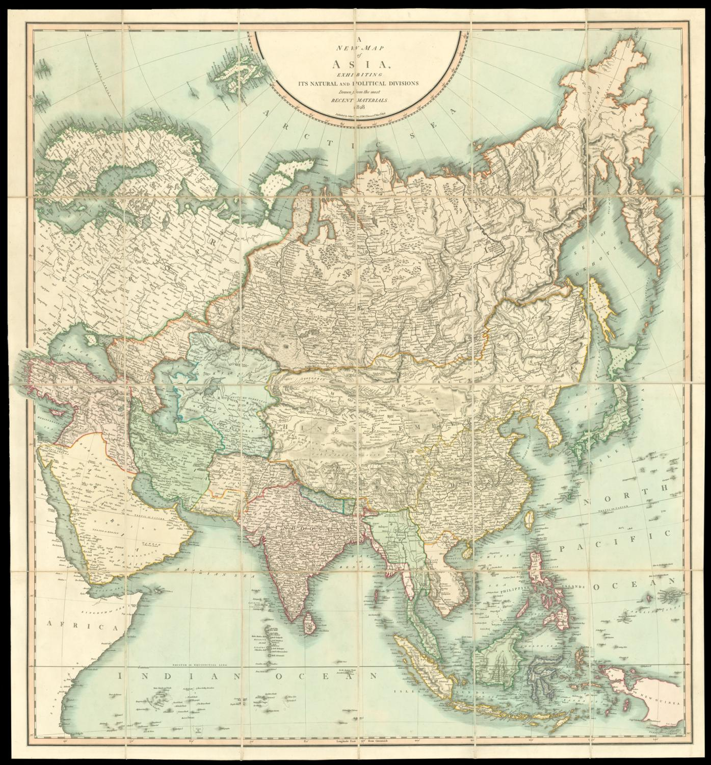 Cary S New Map Of The Eastern And Western Hemisphere