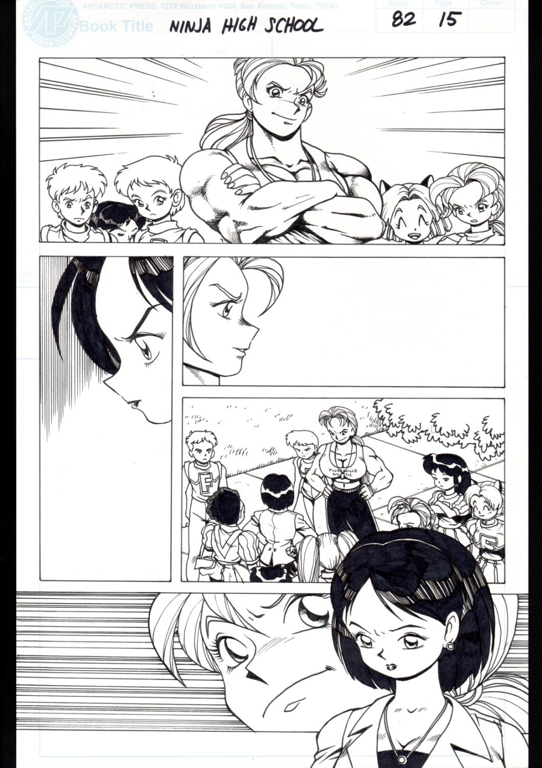Ninja High School 82 Pg 15 Original Art Ben Dunn Anime