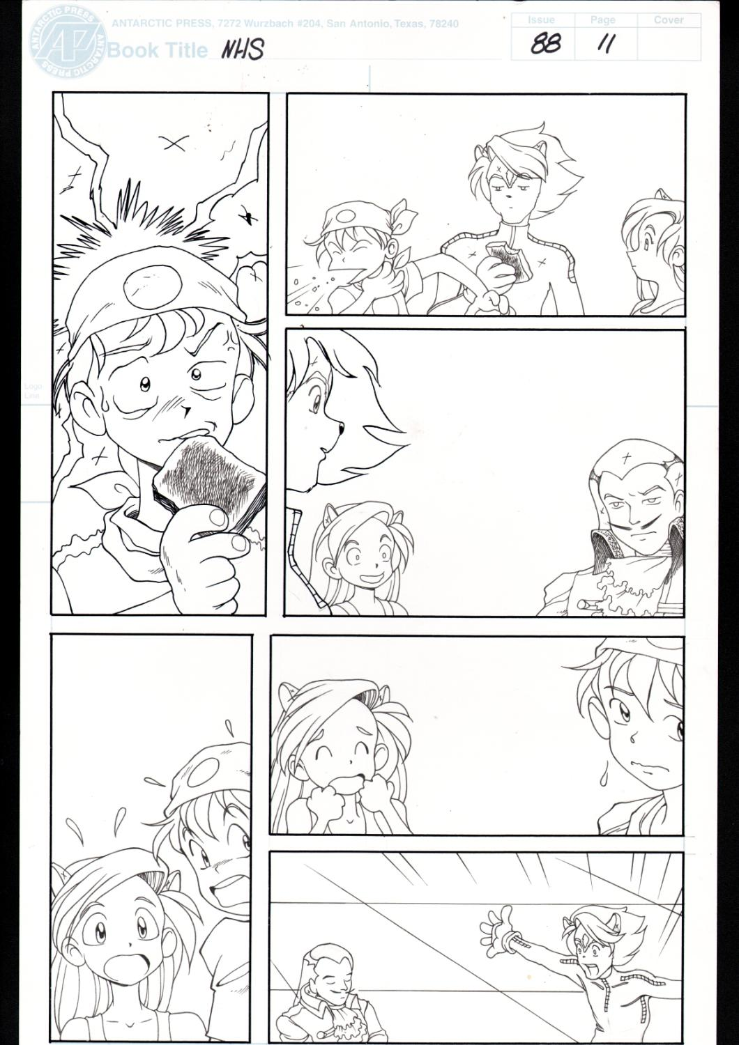 Ninja High School 88 Pg 11 Original Art Ben Dunn Anime