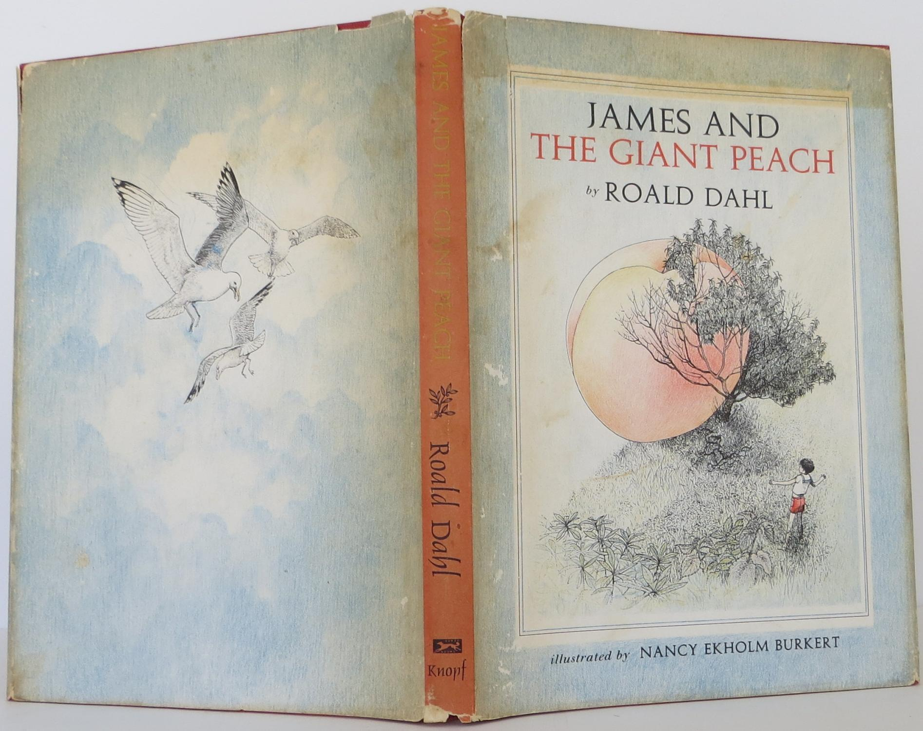 James And The Giant Peach By Dahl Roald Knopf Hardcover 1st Edition Signed By Author S