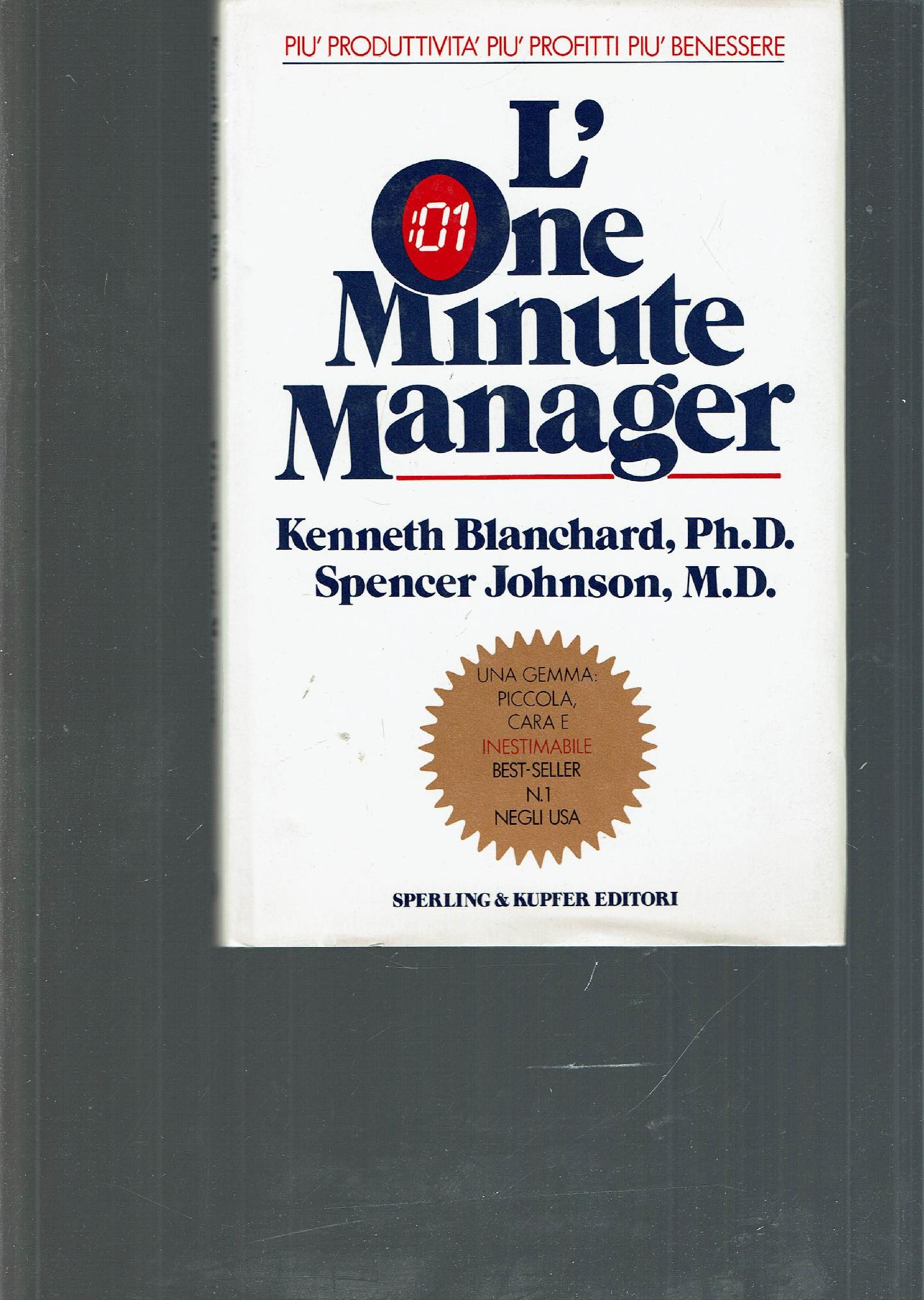 L One Minute Manager By Blanchard Kennethjohnson