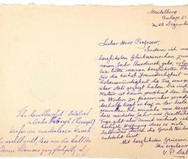 Als Eigenhandiger Brief Mit Unterschrift