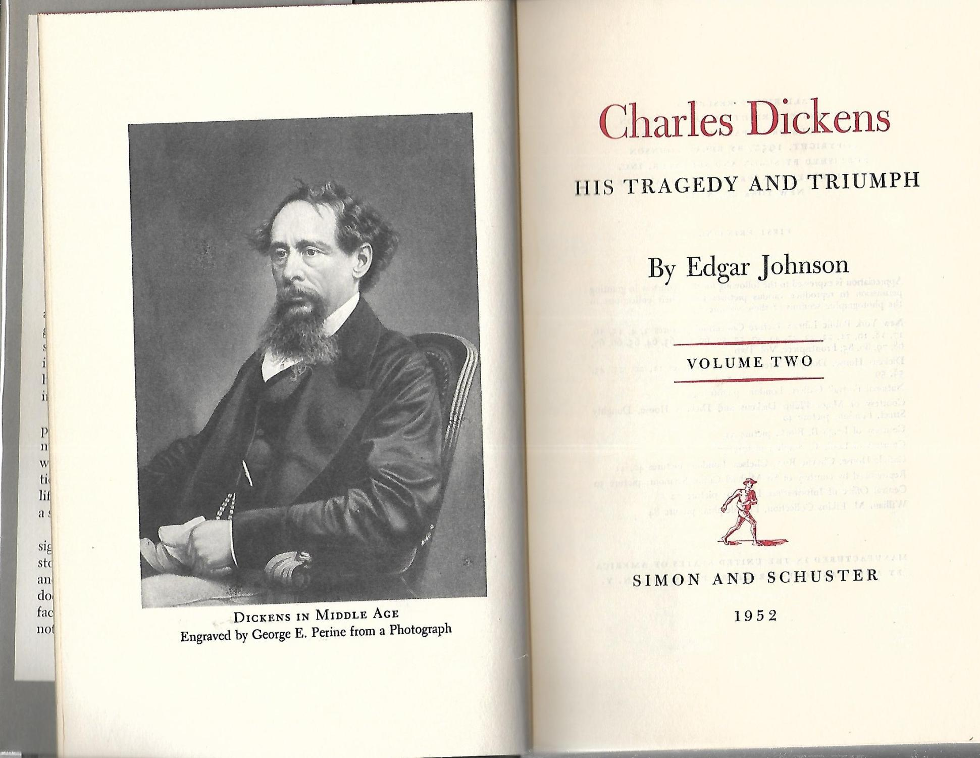 Charles Dickens His Tragedy And Triumph A Biography By By