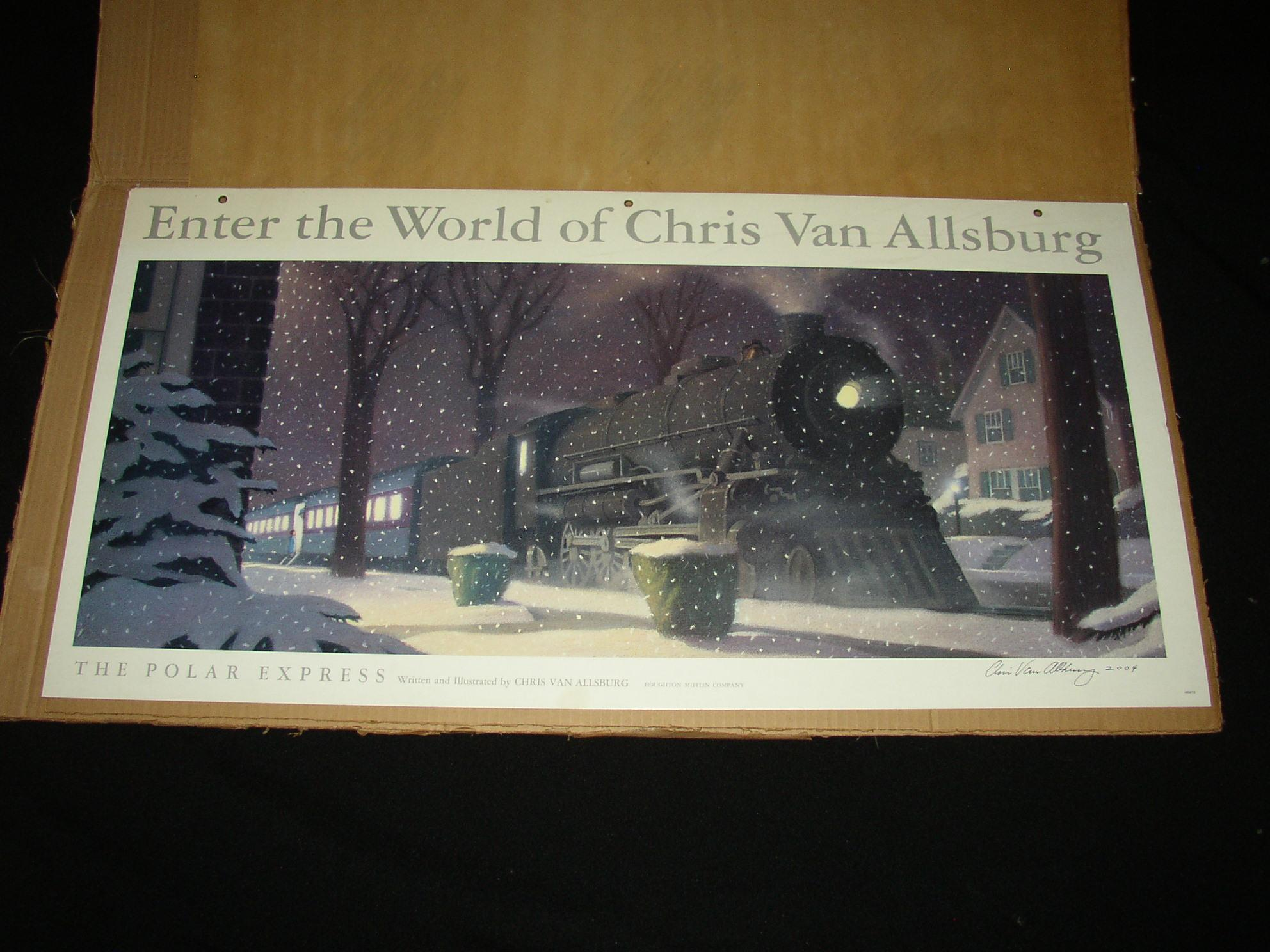 Polar Express Rare Signed Promotional Display Piece By