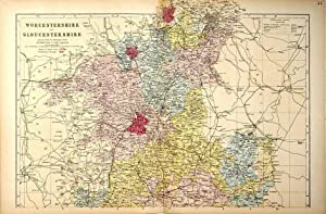 Worcestershire & Gloucestershire: 2 sheets