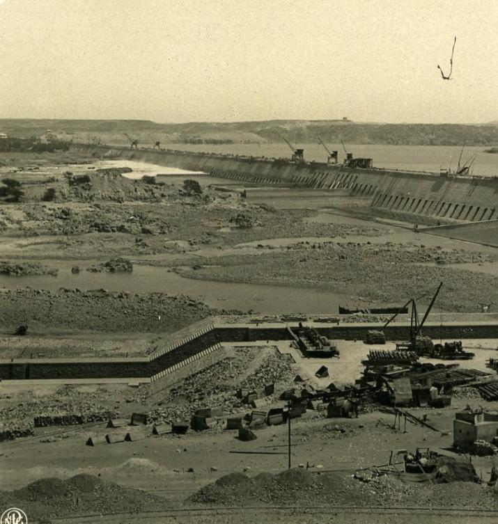 Egypt Aswan Low Dam under Construction Old NPG Stereoview Photo 1900 by NPG (Neue Photographische gesellschaft): Photograph | Bits of Our Past Ltd