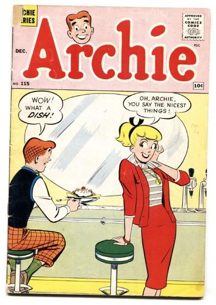 Archie #115 1960-soda shop ice cream cover-Betty-Veronica-VG-: (1960) Comic    DTA Collectibles