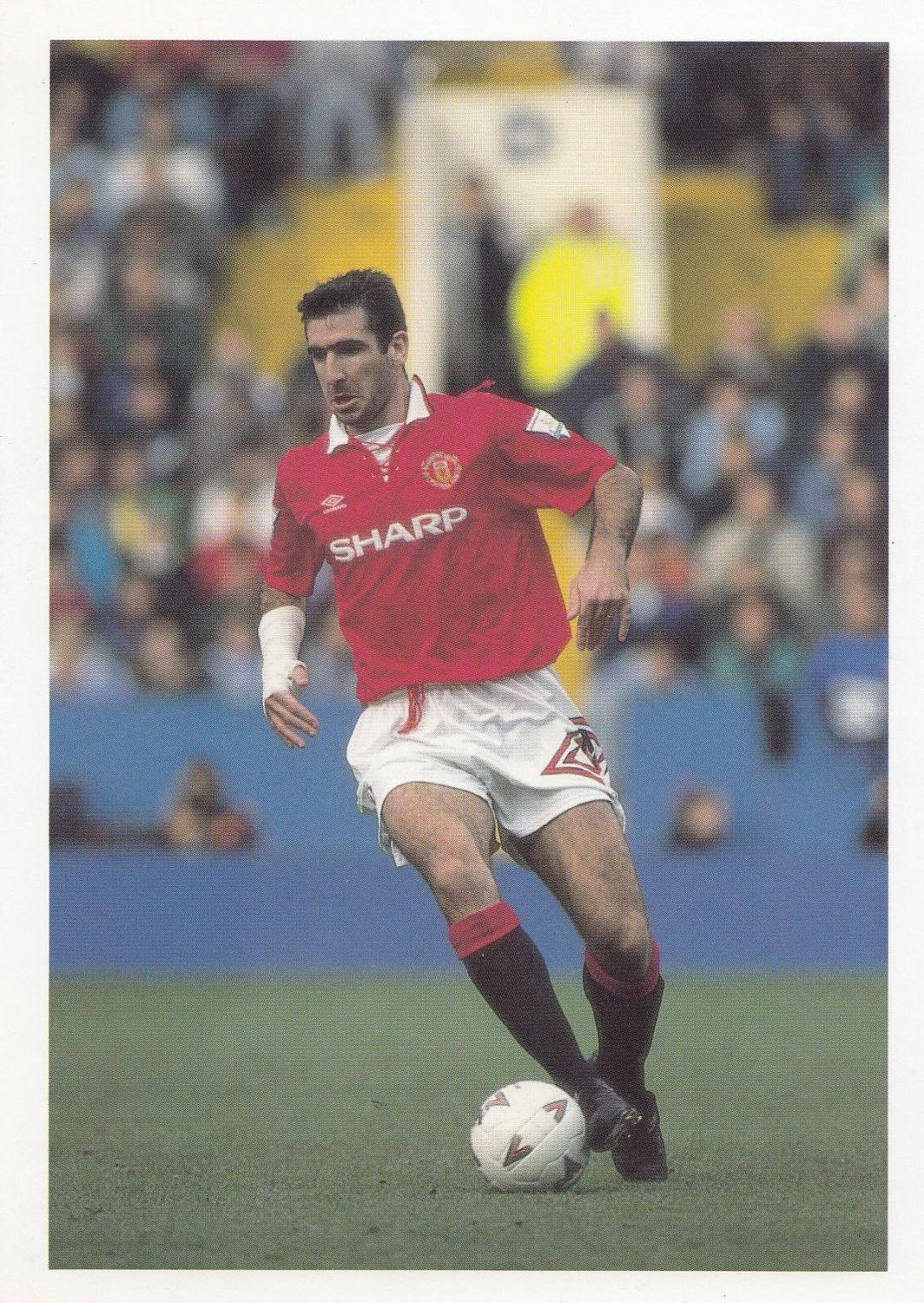 A tempest on the ptich, an absolute dude in retirement. Eric Cantona French France International Football Striker Postcard Manuscript Nbsp Nbsp Paper Nbsp Collectible Postcard Finder