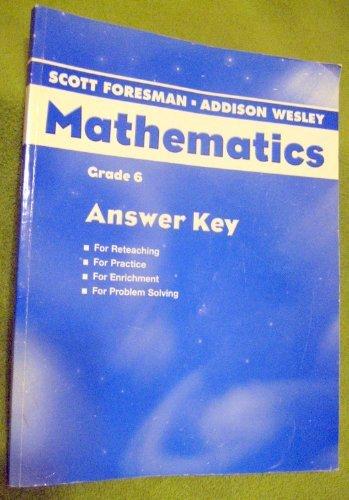 Mathematics Grade 6 Answer Key