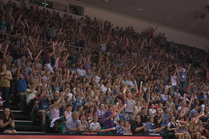 A packed gymnasium of cheering fans will give extra confidence to your players.