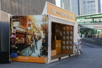 Visa took to Sydney's streets with this mobile showroom Proj-X built.