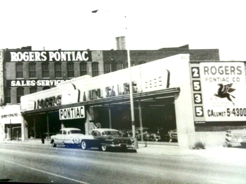 Rogers' first franchise:  Rogers Pontiac in 1956
