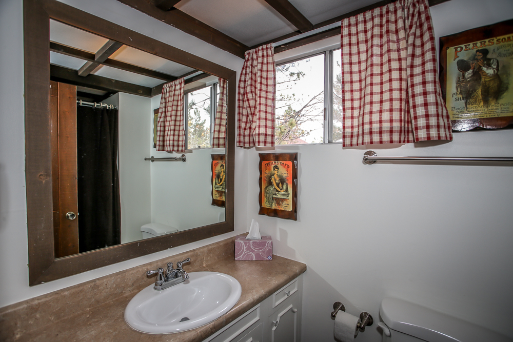 Bathroom with Rustic Decor