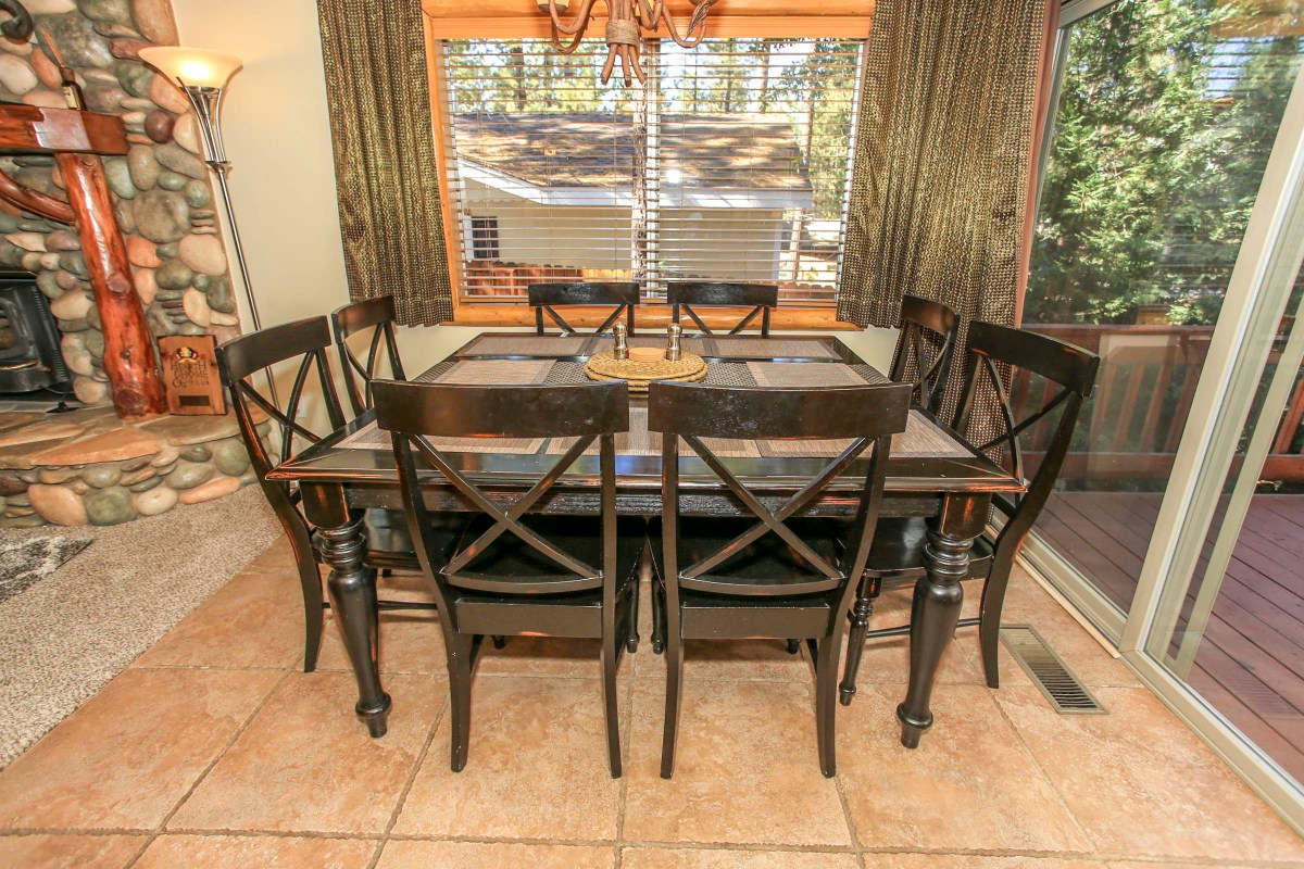 Dining Area with Rustic Decor