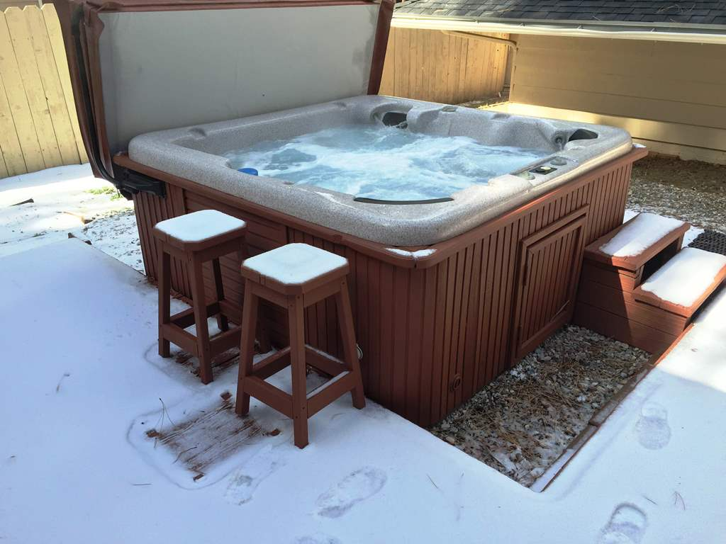 This amazing spa is great for spending time in, if it's a cool evening or a nice summer day.
