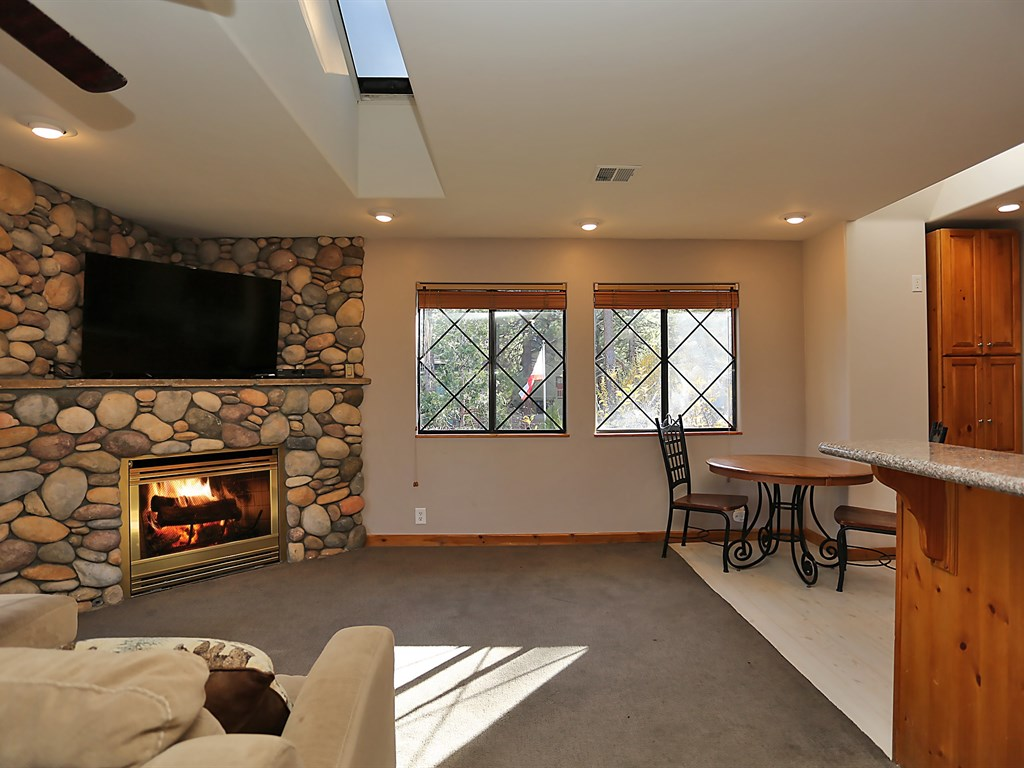 Upstairs Living Room with Fireplace