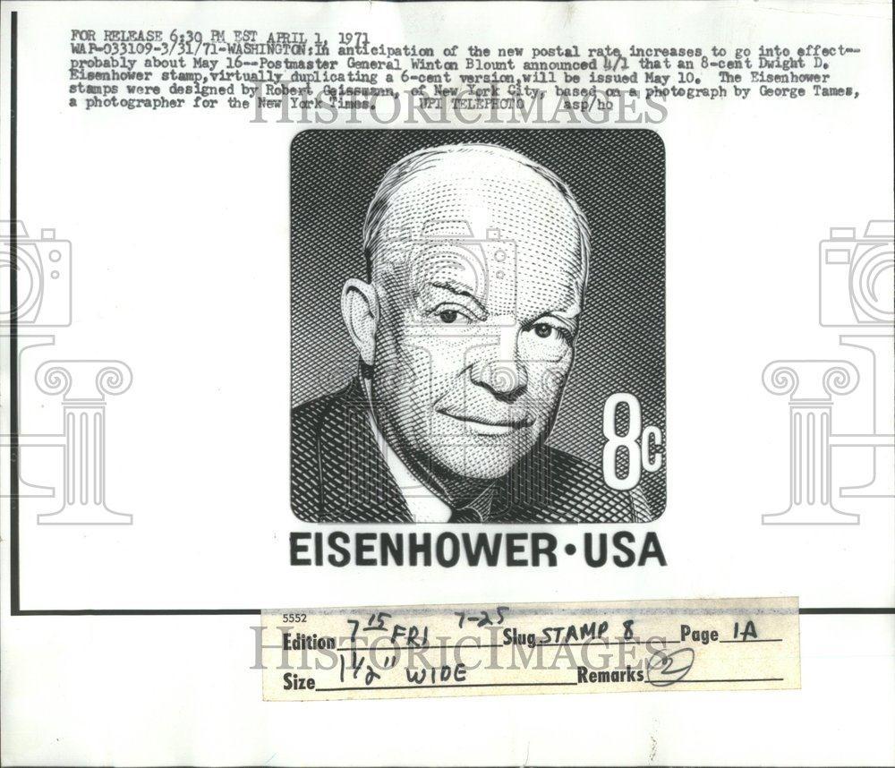8 Cent Stamp Eisenhower