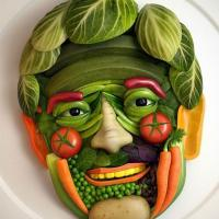 Creative Vegetable Face