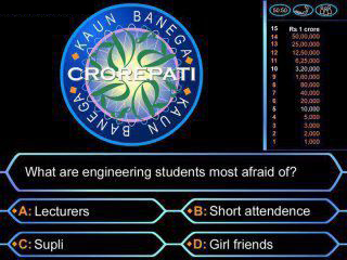 KBC - What are engineering students most afraid of?