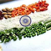 Indian Flag - Tiranga made by Vegetables