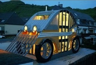unique car modeling house