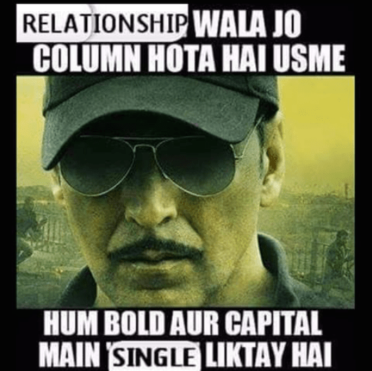 Facebook relationship status of single people
