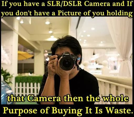 The first pic on facebook after you buy a dslr