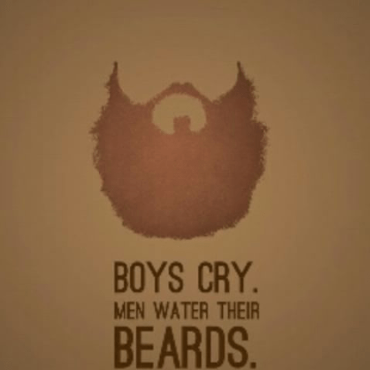 Be a man - grow beard