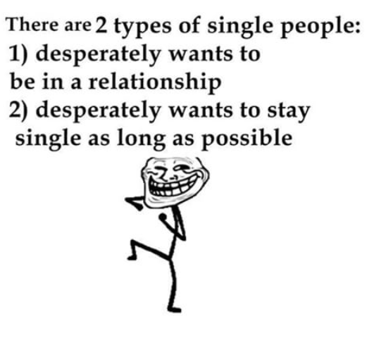 The problem faced by all the single people