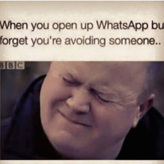 Using Whatsapp when you want to ignore someone