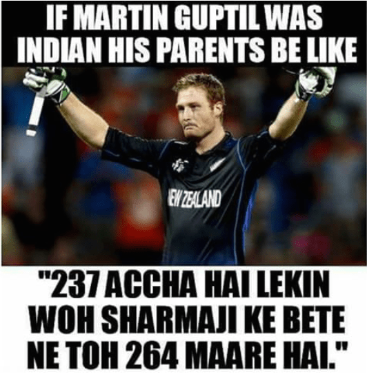 Cricket score in eyes of Indian Parents