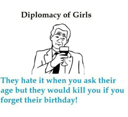 Girls are always right nomatter how diplomatic they are