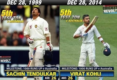 One of the biggest coincidence - Sachin Tendulkar and Virat Kohli