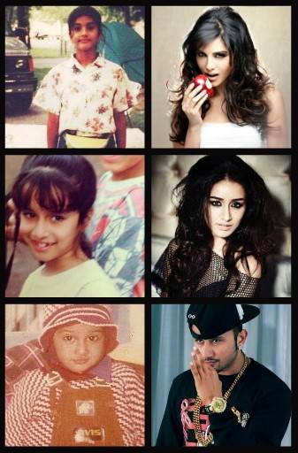 Childhood looks of sunny leone, shradha kapoor and yo yo honey singh