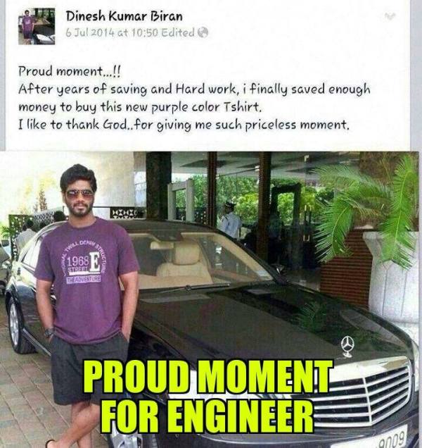A proud moment for an engineer