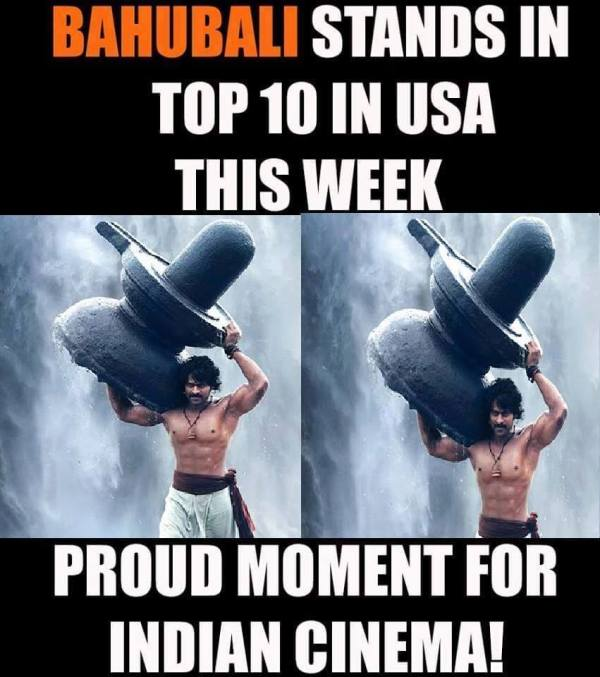 Baahubali stands in top 10 in USA this week
